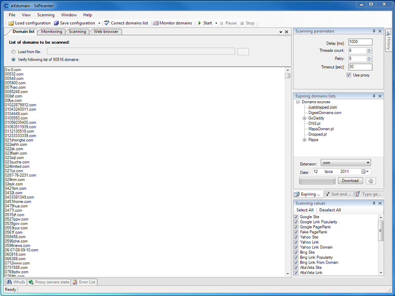 Click to view eXdomain 2.1.4 screenshot